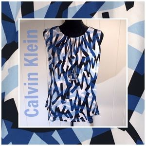 Calvin Klein Blue/White/Black SleevelessTop 🖤💙